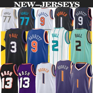 Lamelo 2 الكرة 77 دونكيك 9 باريت اوينغ 33 كرة السلة جيرسي ديفين 1 بوكر ستيف 13 ناش جديد أزرق أبيض الرجال أبيض كرة السلة الفانيلة
