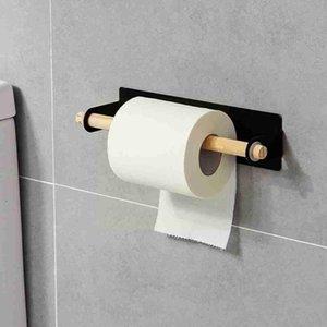 Towel Racks Bathroom Wall-mounted Single-bar Rack Kitchen Door Perforated Tools Free Back Iron Bar Rag Hanger Ha J2T2