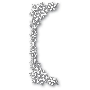 Painting Supplies Snowflake Tall Curve Border Metal Cutting Dies Diy Emboss Stencil Scrapbooking For Card Making 2021