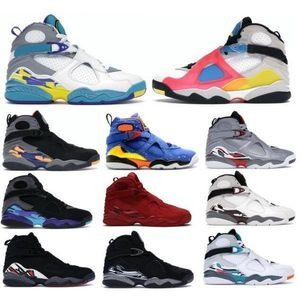 Jumpman 8 8s Hommes Basketball Chaussures Sneakers Aqua Chrome Playoffs South Beach Reflets Saint Valentin Jour Burgundy Bugs Bunny 2021 Silver Tenis