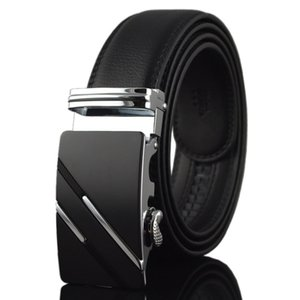 Trendy Fashion Men Belts All-Match Design Retro Stile Retro Pin Fibbia Black Young e Medio-Aged Versione Confezione regalo gratuita