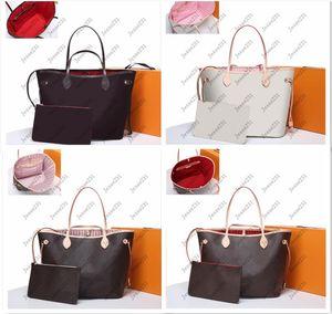 Wholesale mulheres de alta qualidade 2 pcs conjunto de bolsa de couro genuíno bolsa senhora senhora embreagem crossbody messenger bolsa velha flor marrom saco de ombro com carteira