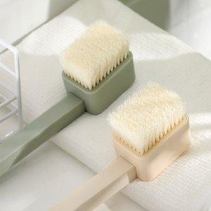 منتجات الحمام التقشير فرشاة فرشاة فرشاة طويلة مقبض ناعم فرشاة قابلة للفصل.