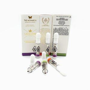 510 Thread the legion of bloom Cartridge Ceramic atomizer empty vape caread PVC Tubee Cartridges Packaging