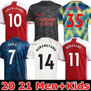 Arsen 424 Jersey de football 20 21 Smith-Rowe Oodegaard Pepe Saka Nicolas Tierney Henrian Willian Maitland-Niles Football Shirts Enfants