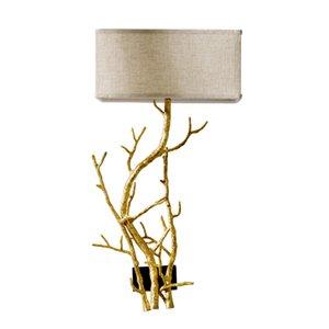 Modern Twig Branch Sculpture Wall Sconce Light Bronze Brass Organic Shape wall lamp