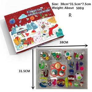 24 дня FIDGET ADVENT CALENDAR CALENDAR CALENDARE BOX RI Рождества Обратный отсчет Слепая игрушечные коробки Детские дети подарки WQ26252711