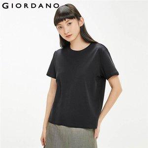 Camiseta para mujer Giordano Mujeres Tshirts Callslock Simple Plain Crewneck Tee Shirts Mangas cortas Casual Soild Camiseta Mujer 05321395