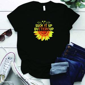 Suck Up Buttercup Tournesol Imprimer Femme T-shirts Vintage Plus Taille S-5XL T-shirt surdimensionné Harajuku Street Style T-shirt T-shirt Tops