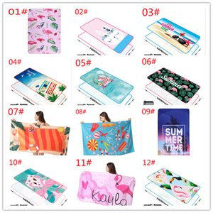 Styles Cartoon Fitness Yoga Towel Printed Quick Fast Dry Cover-Ups Beach Mat Sandy Swimmming Towels Fit Seaide Trave 160*80cm