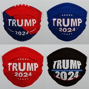 Trump 2024 Kullanımlık Yıkanabilir Yüz Maskesi Dokunmamış Kumaş Anti Toz Haznesi-Proof Nefes Unisex Yetişkinler Facmetasks 537 V2