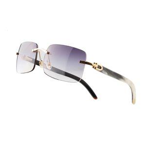 Безрамные очки очки квадратные металлические солнцезащитные очки оптические рамки виски натуральный материал многоцветный дополнительный вождение пляжа открытый мужчина женщины же стиль с коробкой