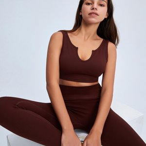 2021 Womens fashion Designer Yoga Sportwear Tracksuits Fitness Bra Leggings Hollow two Piece Set outdoor outfits Sports Gymshark Athletic runner