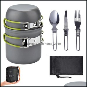 Sets Kitchen, Dining Bar Home & Gardenoutdoor Supplies Cam Cookware Set, Easy To Carry For 1-2 People, Picnic Stove Cooker Set With Color Bo