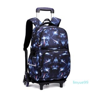 Kids Wheeled Backpacks Removable Children School Bags With 3 Wheels Stairs Boys Girls Trolley Schoolbags Luggage Book