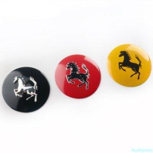 4pcs 56mm Wheel Center Cap Emblem Badge Sticker Horse Black Red Yellow Car Styling Accessories