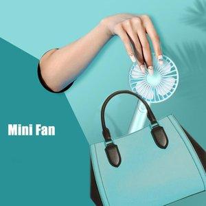 Portable Mini USB Fan HandHeld Desk Air Cooler Freshener Cooling Chargeable Phone Holder Use 18650 Battery Car Fans
