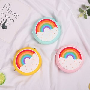 Cute Donutt Coin Bag Purse Keychain Children Adult Silicone Toy Pressure Relief Board Controller Toys Creativity Popper Bags W232