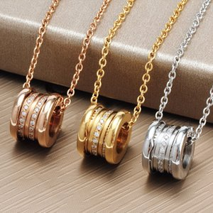Luxury Wild Fashion Perfect Designer Jewelry Women Pendant Necklaces Rose Gold Silver stainless steel with Diamond Love Necklace men womens
