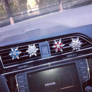Interior Decorations Creative Crystal Flower Car Perfume Air Conditioning Outlet Decoration Aroma With Light Fragrance