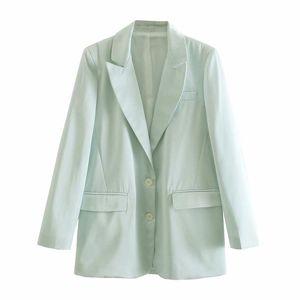 High Quality Fashion Office Ladies Suit Pure Color Spring Autumn Pocket Coat Blazers For Women Women's Suits &