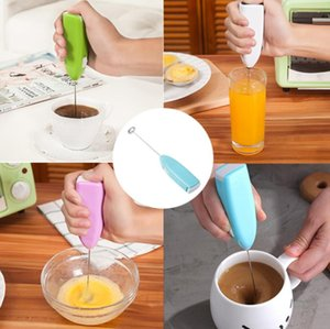 Mini Electric Coffee Blender Palmare EggBeater Bubble Bevanda Stirante Bar Creativo Miscelatore per caffè elettrico Creativo Milk Whisk 6 Colors