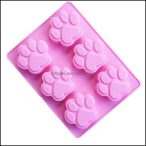 Baking Pastry Kitchen, Dining Bar Home & Gardenlowest Price Cat Paw Print Bakeware Sile Mod Chocolate Cookie Candy Soap Resin Wax Mold Cake