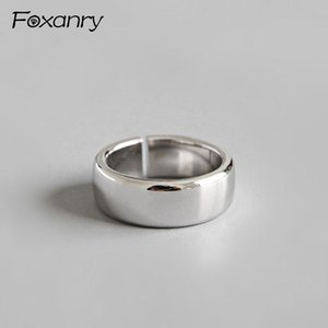 Cluster Rings Foxanry Prevent Allergy 925 Sterling Silver Minimalist Smooth For Women Couples Personality Jewelry Party Accessories Gift
