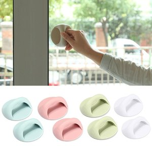 Handles & Pulls 2pcs Modern Self Adhesive Drawer Round Auxiliary Knobs Cabinet Suction Cup Handle For Wardrobe Refrigerator