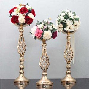 Decorazione di puntello da sposa per partito S / m / L portame di candela da sposa in ferro vaso candela stand flower rack Road piombo