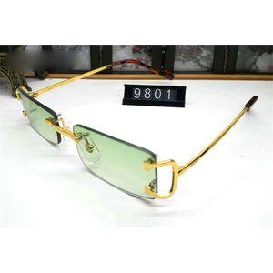 Pawes Glasses Frame Men Sunglasses Gold Rimless Eyeglasses for Man Anti Reflective Clear Lens Prescription Spectacles 9801