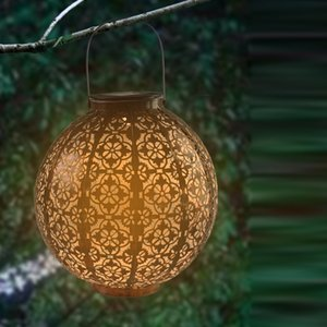 Solar Lanterns Outdoor Hanging, Hanging LED Solars Lights Decorative Retro Metal Outdoors Waterproof Solary Lamp with Handle for Garden, Yard Porch and Tabletop