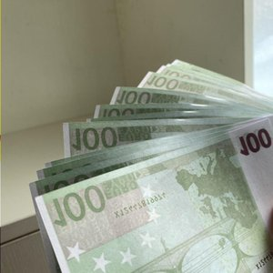 Money Fake Euro Children's Party 100 Bar Prop Pack Billet Faux 100pcs Adult Game Toys Uvppb