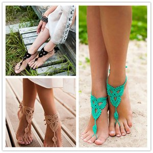 Handwork Weave Anklet Solid Color Sandals Foot Decoration Anklets Yoga Beach Bride Women Girls Fashion Jewelry Accessories 4 9yz Q2