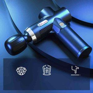 2021 New Design Mini Muscle Massage Gun Electric Muscle Massage Gun Pocket Neck Body Massager Pain Relief 3Gear Massager 210323