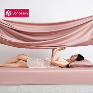 Sheets & Sets Sondeson Luxury Pink 100% Silk Fitted Sheet 25 Momme Healthy Beauty Queen King Bed With Elastic Band Case For Sleep
