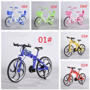 1:8 Simulated alloy mountain bike slow down model mini bikes toy display Foldable bicycle models