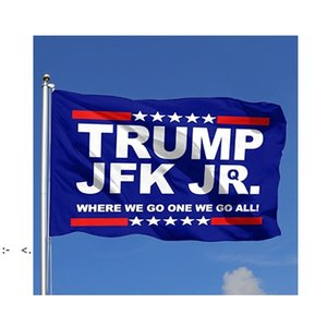 Trump JFK Jr. 3x5ft Flags 100D Polyester Banners Indoor Outdoor Vivid Color High Quality With Two Brass Grommets RRD11027