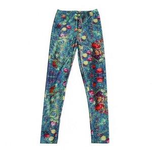 Pantaloni da donna con stampa albero di natale Pantaloni da donna 2021 Maiden Juniors Girl Costum Spandex lucido Skinny Footless 3XL