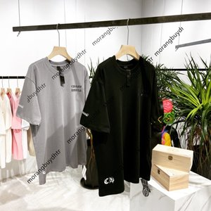 2021 Chro Hearts Cro Iron Drill Horseshoe Cross Print Men's and Women's Loose Short Sleeve T-shirt07e2