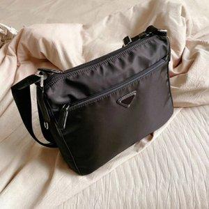 Fashion Men's Women's Luxury Black Briefcases Designer Crossbody Shoulder Bags Nylon Cross Body Soft Purses High Quality Triangle