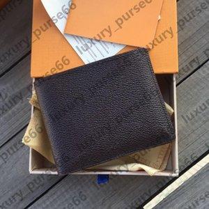 Mens Designer wallet women purse High quality fashion short plaid Floral Wallets portafoglio uomo Complete set of 3 colors Holders With box size:11x9cm LB121