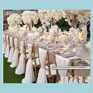 Садовый текстиль охватывает оптовые продающие пользовательских шифон Sash 20 штуки на сумку для свадебных украшений ширина 75см и длина 200 см I Q93LJ