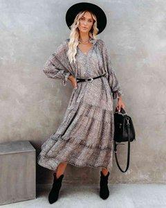 New 2021 Dress Summer Mid Waist Street Trendsetter Print Floral
