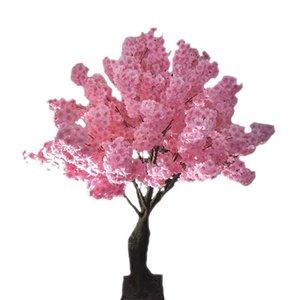 مهرجان الزخرفية زهرة مقلد أزهار الكرز النباتات الاصطناعية الديكورات المنزلية أزهار الكرز الحريري باقة الاصطناعي الزفاف