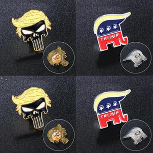 Trump Brooches Party Supplies Punk Symbol Badge America President Election Pins Coat Jackets Backpack Trump Brooch OWA8602