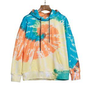 Красочные мужские толстовки одежда одежда мода печатание мужчины женские свитер с длинным рукавом пары толстовки толстовка Размер S-XL