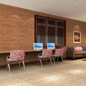 Старинные короткие наклейки на стену кирпичи узор на себе клейкие водонепроницаемые обои для спальни гостиной кухня мебель декор обои