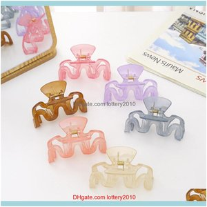 Clamps Jewelry Jewelry2021 Korean Fashion Wave Acrylic Claws Headwear Transparent Large Size Grab Clips Women Hair Aessories Drop Delivery 2