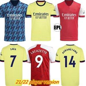 Oyuncu Sürümü 21 22 424 Arsen Soccer Jersey Ev ve Uzaktan 2021 2022 Gunners Odegaard Thomas Pepe Saka Tierney Henry Willian Smith Rowe Futbol Gömlek
